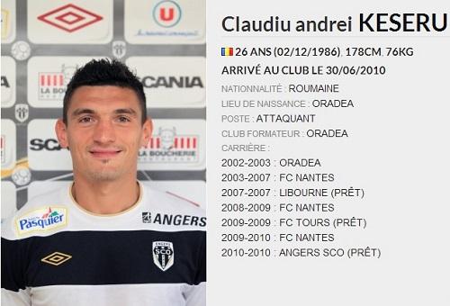 claudiu keseru attaquant à Angers SCO