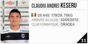 Claudiu Keserü, attaquant à Angers SCO