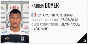 Fabien Boyer défenseur au SCO d'Angers