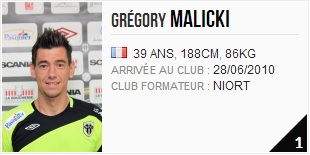 gardien angers sco Gregory Malicki