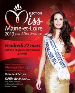 affiche soirée élection miss maine et loire 2013 à Avrillé