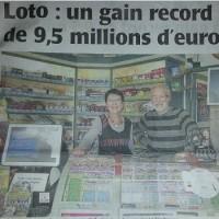 9.5 millions d'euros au Loto à Doué-La-Fontaine