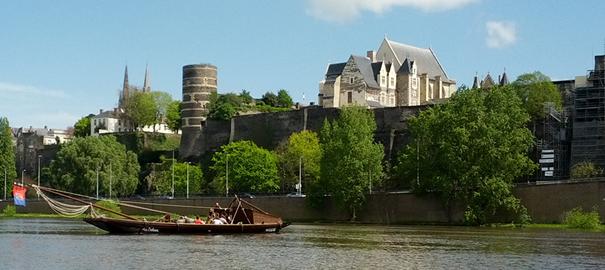 Vue du château d'Angers depuis les bords de Maine.