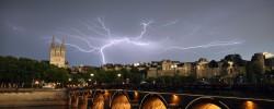 Un violent orage à frappé la ville d'Angers le jeudi 24 juillet 2014 en fin d'après midi