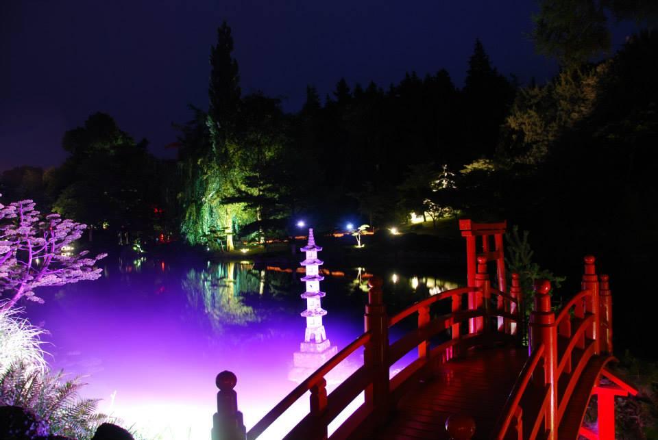 Jardin de nuit l 39 animation zen et f rique du parc for Jardin nocturne