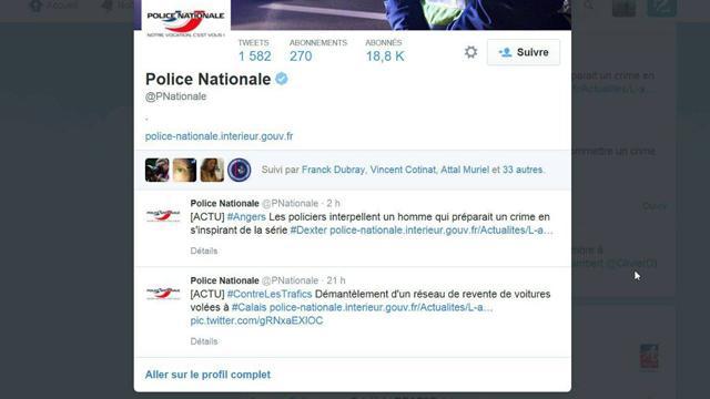 """Le fameux """"tweet"""" posté par le compte de la police nationale avant d'être retiré."""