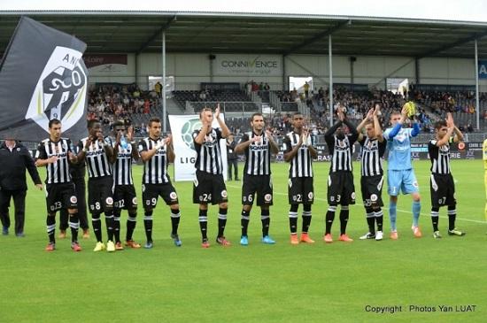 groupe angers sco contre Valenciennes