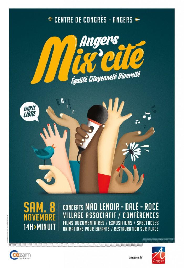 L'affiche de la 3e édition de Mix'Cité à Angers.
