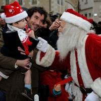 Le Père Noël au détour d'un chalet