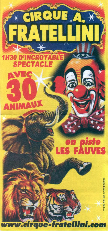 Prospectus du cirque Fratellini