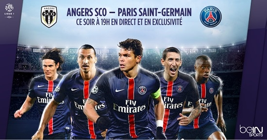 l'affiche officielle d'avant match entre le SCO et le Paris Saint Germain