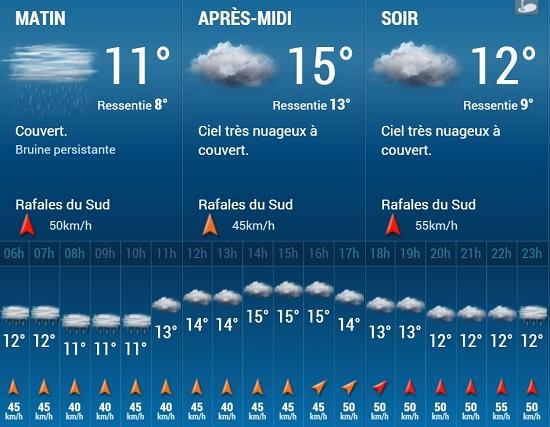 Météo sur Angers pour ce mardi 22 décembre 2015