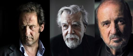 Vincent Lindon, Jean Claude Carrière et Michael Lonsdale aux Premiers Plans