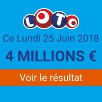 Résultat Loto du lundi 25 juin 2018