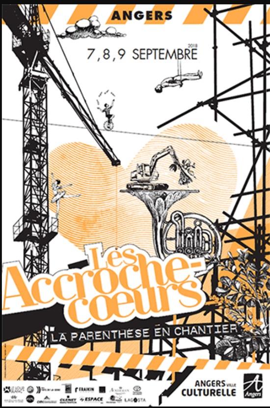 Affiche officielle des Accroches Coeurs d'Angers 2018