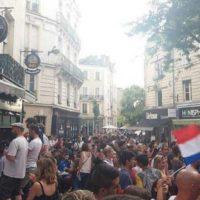Centre ville d'Angers après le match France - Belgique