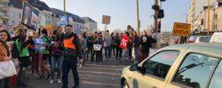 Manifestation Angers pour la visite du Président Macron